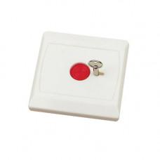 Buton de panica cu memorie mecanica BT-28, cheie, incastrabil, micro-switch