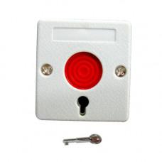 Buton panica cu memorie mecanica PB-45, cheie, 12 Vdc