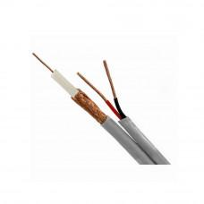 Cablu coaxial RG 59 + ALIMENTARE 2x0.75 (200 m), gri