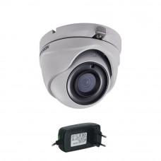 Camera supraveghere Dome Hikvision Ultra-Low Light DS-2CE56D8T-ITMF, 2MP, 30 m, 2.8mm + alimentare