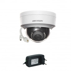 Camera supraveghere Dome IP Hikvision DS-2CD1123G0-I, 2 MP, 30 m, 2.8 mm + alimentare