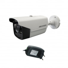 Camera supraveghere exterior Hikvision Ultra Low Light TurboHD DS-2CE16D8T-IT3F, 2 MP, IR 60 m, 2.8 mm + alimentator