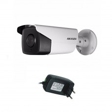 Camera supraveghere exterior Hikvision Ultra Low Light TurboHD DS-2CE16D8T-IT5F, 2 MP, IR 80 m, 3.6 mm + alimentator