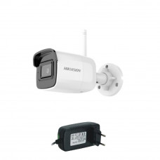 Camera supraveghere IP wireless Hikvision DS-2CD2041G1-IDW1, 4 MP, IR 30 m, 2.8 mm + alimentare