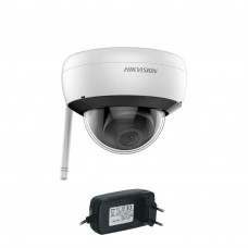 Camera supraveghere IP wireless Hikvision DS-2CD2141G1-IDW1, 4 MP, IR 30 m, 2.8 mm + alimentare