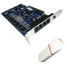 Card PCI SEKA T-REC, 8 linii, soft inclus