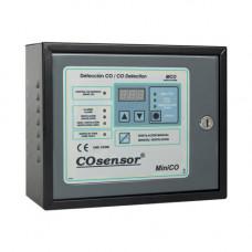 Centrala detectare CO si NO2 conventionala Cofem MiniCO MCO120DVB, 1 zona, 20 detectori, IP30