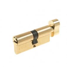 Cilindru siguranta patentat cu buton Yale 10-1803-3030-CK-0201, 5 chei, 6 pini, alama