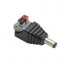 Conector DC Male DCM-P(P10), terminale push (tata)