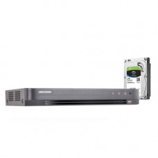DVR HDTVI CU 16 CANALE HIKVISION TURBOHD 3.0 DS-7216HQHI-K1 + HDD 2TB