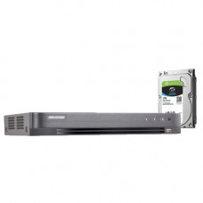 DVR HDTVI CU 8 CANALE HIKVISION TURBO HD 4.0 DS-7208HUHI-K1 + HDD 1TB