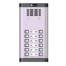 Interfon de exterior Genway WL-02NE 1*2, 2 familii, ingropat, aluminiu