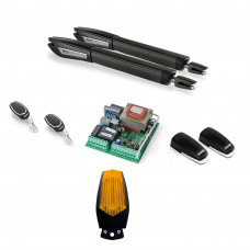 Kit automatizare poarta batanta Motorline JAG 600 - 230V, 250 Kg/canat, 4 m/canat, 300 W