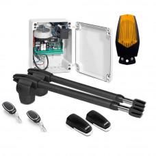Kit automatizare poarta batanta Motorline LINCE 400 - 24V, 250 Kg/canat, 3 m/canat, 60 W
