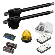 Kit automatizare poarta batanta Roger Technology MONOS4, 3 m/canat, 230 V, 200 W