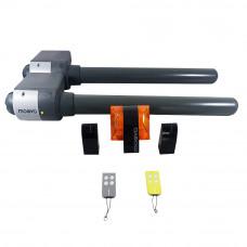 Kit automatizare poarta batanta Moovo XW532KM, 250 Kg/canat, 2.5 m/canat, 12 V