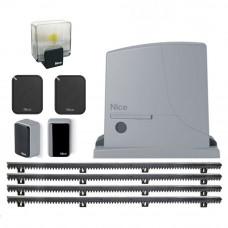 Kit automatizare poarta culisanta Nice ROX600KLT KIT, 600 Kg, 230 Vac, 300 W