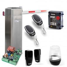 Kit bariera completa acces auto Motorline KBM6 - INOX, 6 m, 230 V, IP 55