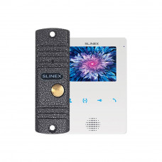 Kit videointerfon Slinex VID-SLI-03-W, 1 familie, 4 inch, aparent