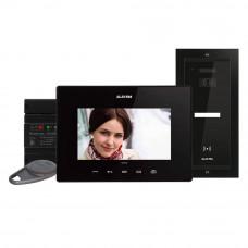 Kit videointerfon Electra Touch Line Extra VKE.P1FR.T7S9.ELB04, 1 familie, ingropat, 7 inch