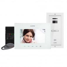 Kit videointerfon Electra Touch Line Extra VKE.P1FR.T7S9.ELW04, 1 familie, ingropat, 7 inch