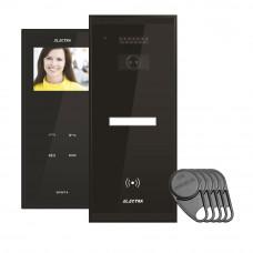 Kit videointerfon Electra Touch Line Smart+ VKM.P1SR.T3S4.ELB04, 1 familie, aparent, 3.5 inch