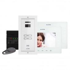 Kit videointerfon Electra Touch Line Extra VKE.P2FR.T7S9.ELW04, 2 familii, ingropat, 7 inch