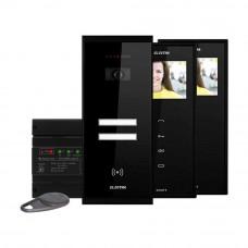 Kit videointerfon Electra Touch Line Smart+ VKM.P2SR.T3S4.ELB04, 2 familii, aparent, 3.5 inch