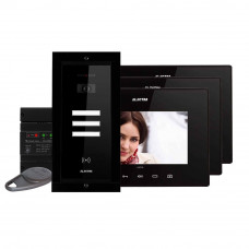 Kit videointerfon Electra Touch Line Extra VKE.P3FR.T7S9.ELB04, 3 familii, ingropat, 7 inch