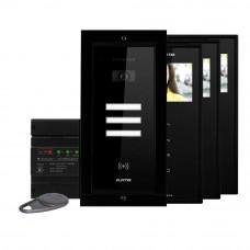 Kit videointerfon Electra Touch Line Smart+ VKM.P3FR.T3S4.ELB04, 3 familii, ingropat, 3.5 inch