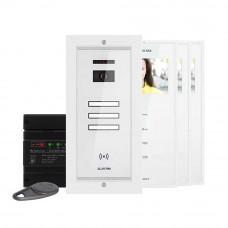 Kit videointerfon Electra Touch Line Smart+ VKM.P3FR.T3S4.ELW04, 3 familii, ingropat, 3.5 inch