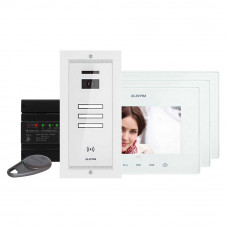 Kit videointerfon Electra Touch Line Smart+ VKM.P3FR.T7S4.ELW04, 3 familii, ingropat, 7 inch