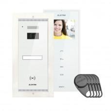 Kit videointerfon Electra Touch Line Smart+ VKM.P1FR.T3S4.ELW04, 1 familie, ingropat, 3.5 inch
