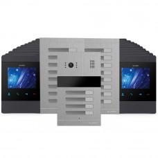 Kit videointerfon Slinex 1xMA-04+2xMA-08+20xMS-04-B, 20 familii, ingropat, 4 inch