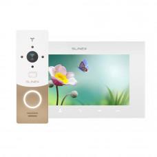 Kit videointerfon Slinex 1xML-20CR-GW+1xSQ-07MT-W, 1 familie, aparent, 7 inch