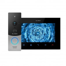 Kit videointerfon Slinex 1xML-20CR-SB+1xSQ-07MT-B, 1 familie, aparent, 7 inch