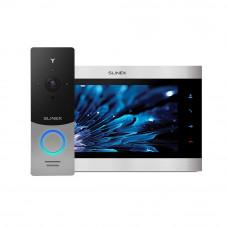 Kit videointerfon Slinex 1xML-20IP-SB+1xSL-10IPT-SB, 1 familie, aparent, ecran 10 inch