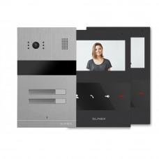 Kit videointerfon Slinex MA-02+2xSQ-04M-B, 2 familii, ingropat, 4.3 inch
