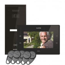 Kit videointerfon Electra Touch Line Smart+ VKM.P1SR.T7S4.ELB04, 1 familie, aparent, 7 inch