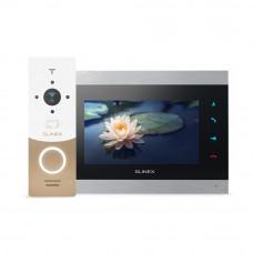Kit videointerfon WiFi Slinex 1xML-20CR-GW+1xSL-07IP-SB, 1 familie, aparent, ecran 7 inch