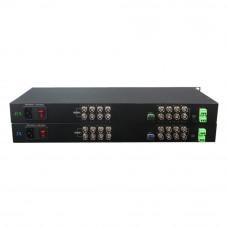 Kit convertor video UOF116VD-S20 CVBS, 16 canale video, 20 km, 15 W