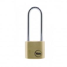 Lacat de alama cu veriga lunga YALE Y110/40/163/1, cheie, interior/exterior