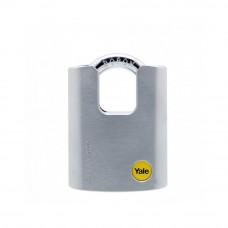 Lacat de alama cu veriga protejata YALE Y122/50/123/1, cheie, exterior