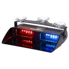 Lampa LED stroboscopica pentru parbriz rosu-albastru