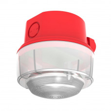 Lampa semnalizare conventionala de exterior Hochiki CWST-RW-W5, IP65, LED alb, carcasa PC-ABS rosu
