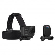 Montura cap + clips prindere QuickClip pentru camere video GoPro