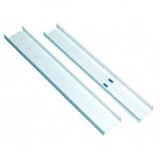Pat de cablu MCSE2 (15x35), 2.5 m, PVC, alb