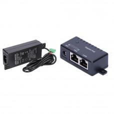Set Injector Gigabit STPOE60, 1 canal, 1000mb/s, 12-48V 60w + sursa