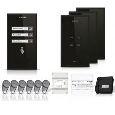 Set interfon Electra Smart INT-ELEC-18, 3 familii, RFID, 6 tag-uri