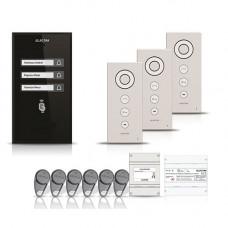 Set interfon Electra Smart INT-ELEC-19, 3 familii, RFID, 6 tag-uri